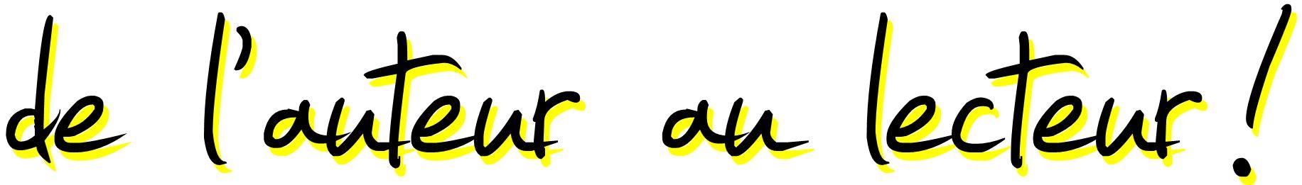 thumbnail_logo de l'auteur au lecteur