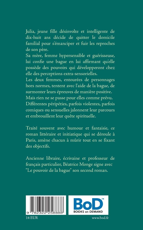 Couverture du roman Le pouvoir de la bague, synopsis, résumé.